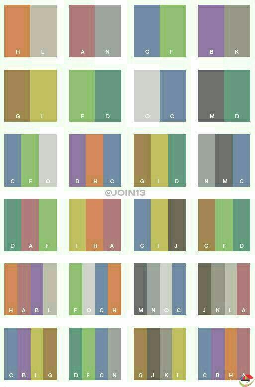 همنشینی رنگ ها
