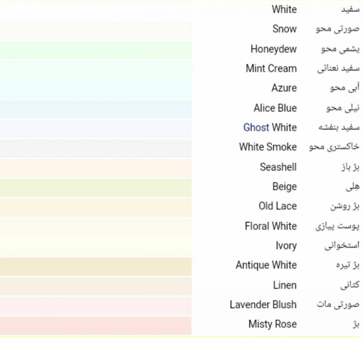 رنگ های اصلی و فرعی