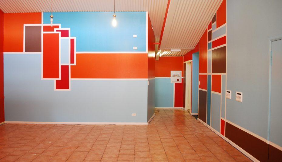 نقاشی ساختمان طرح دار